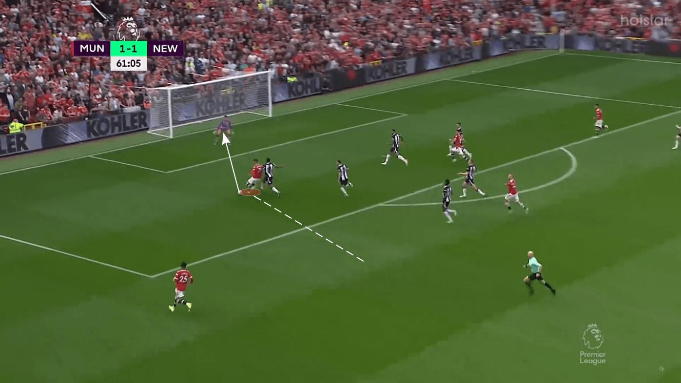 Analiza učinka: San Cristiana Ronalda Manchester United uzvrat protiv Newcastle Uniteda 1